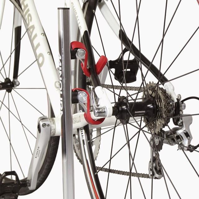 Minoura Ds-532 Bike Stand Silver//Red