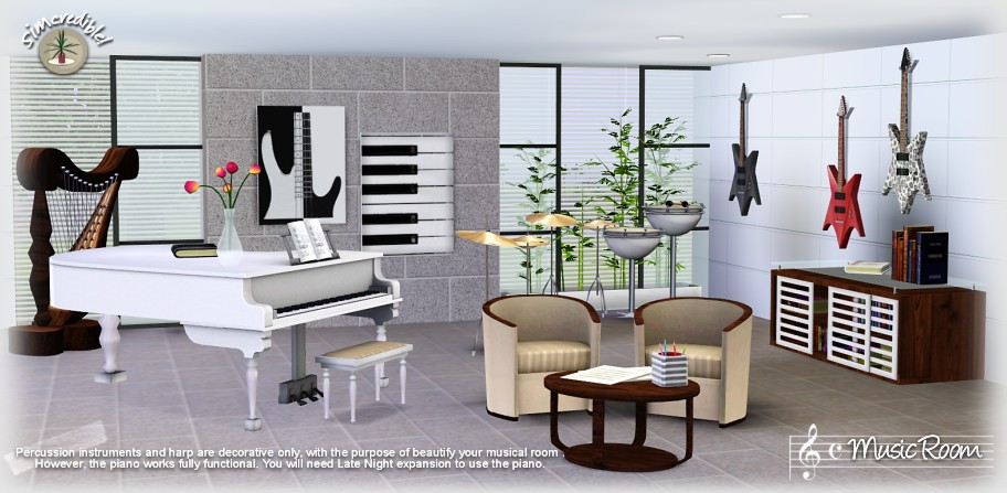 My Sims 3 Blog: The Music Room by Simcredible Designs
