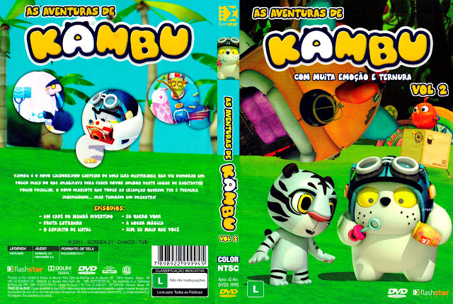Capa DVD AS AVENTURAS DE KAMBU VOLUME 2