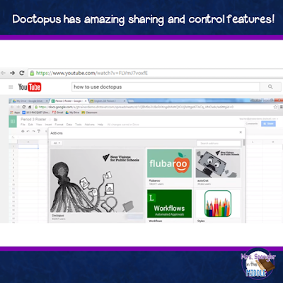 Top Google Tech for Teachers - Doctopus!  Powerful sharing and control features!