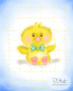 Spring Duck Wacom Digital Painting