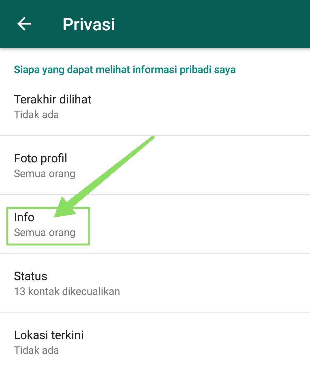 Cara menyembunyikan status online dan tanda terakhir ...