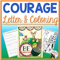courage letter and coloring sheets