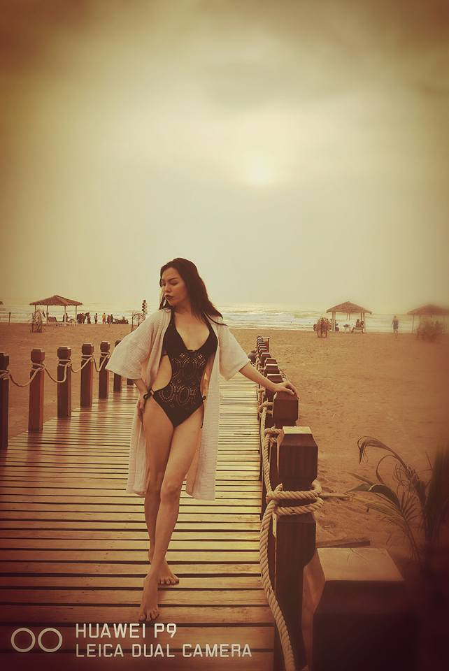 Ma Htet Shows Off In Bikini Swimsuit At Ngwe Saung Beach
