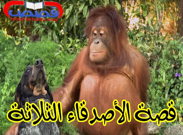 قصص قصيرة للأطفال | قصة الأصدقاء الثلاثة للمؤلف عبدالله محمد عبد المعطي