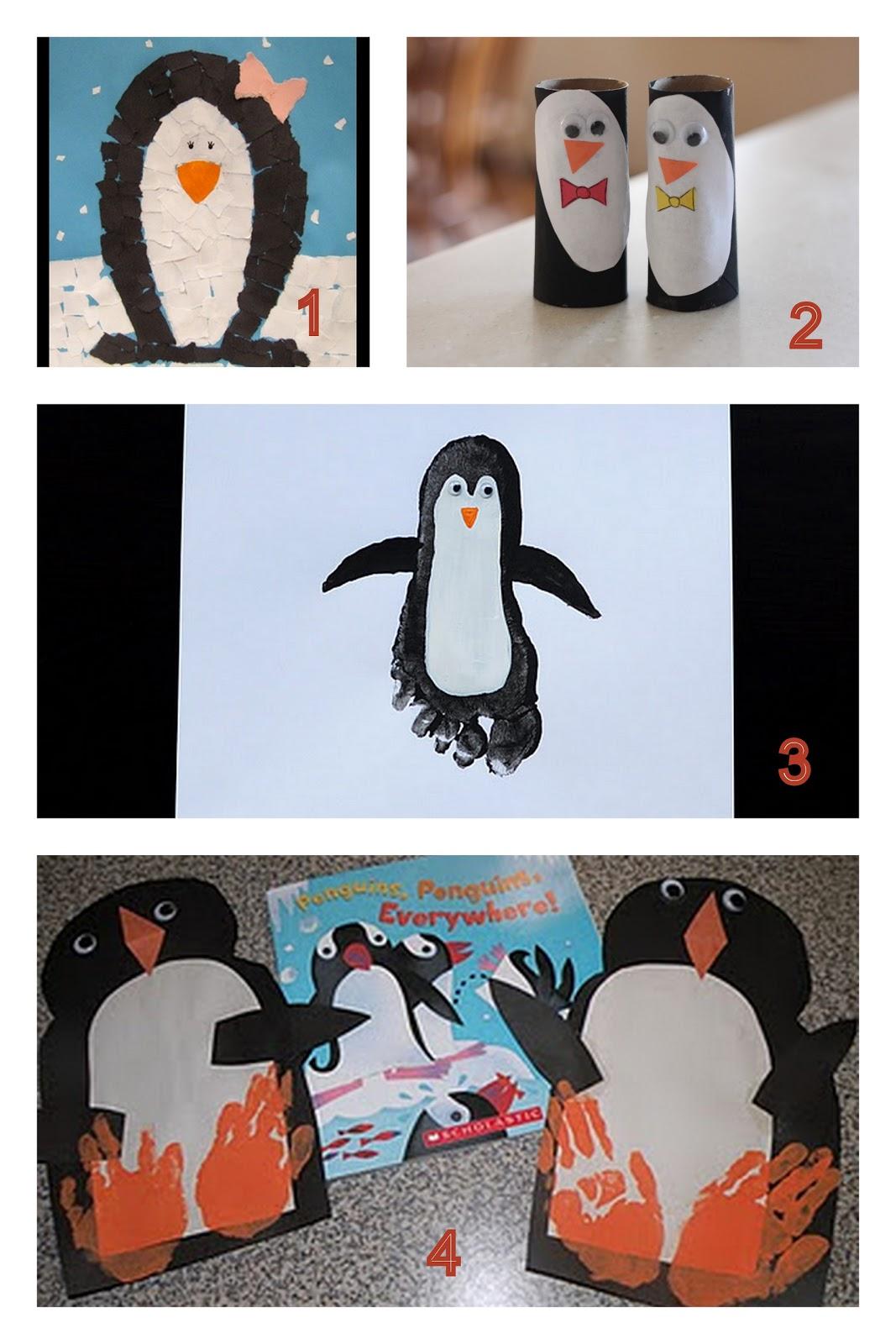 Having Fun At Home Preschool Penguin Crafts