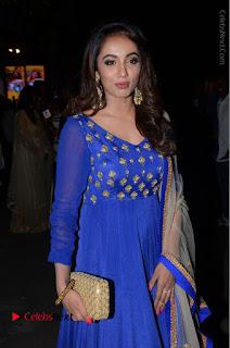 Telugu Actress Tejaswi Madivada Pos in Blue Long Dress at Nanna Nenu Na Boyfriends Audio Launch  0081.JPG