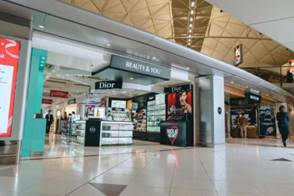 Source: Shilla Duty Free. The Shilla Duty Free has unveiled six temporary retail stores inside Hong Kong International Airport. Store interior.