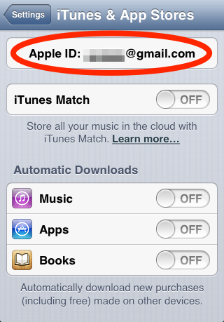 Click Apple ID Email iPhone