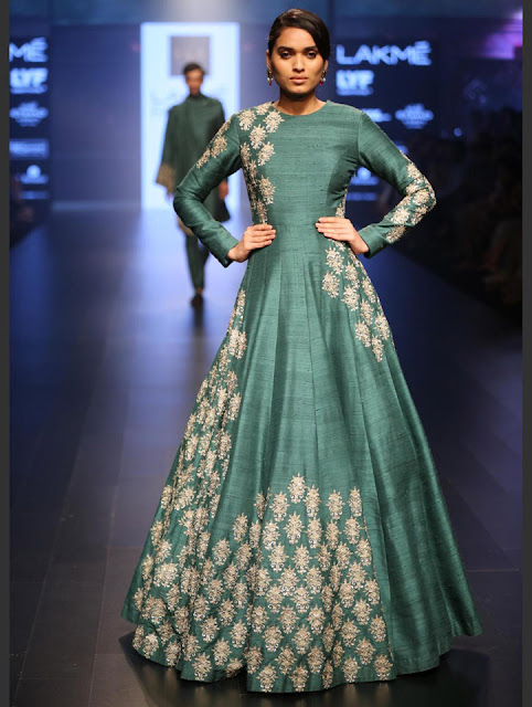 SVA lakme fashion week vintage floral jacket lehengas