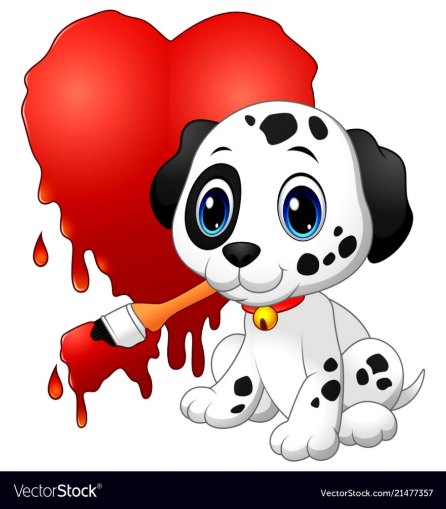 Cute Dog Drawing Wallpapers Abstract