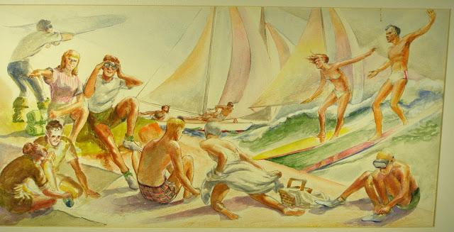 Quirk Artist Quirk Painter Quirk Painting Shore Scene