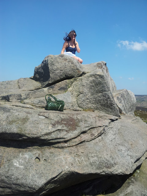 Girl, view, peak district