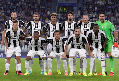 Daftar Skuad Pemain Juventus 2016-2017