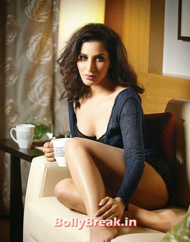 actress item song actress, Sophie Choudhary Hot Bedroom Pics in Nighty from Mandate Magazine