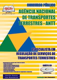 Apostila ANTT - ESPECIALISTA EM REGULAÇÃO DE SERVIÇOS DE TRANSPORTES TERRESTRES