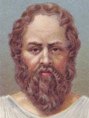 Reflexión Las tres bardas. Pintura del rostro de Sócrates