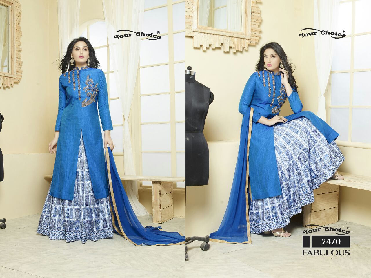 Fabulous – Long Length Palazzo Style Cotton Salwar Suit