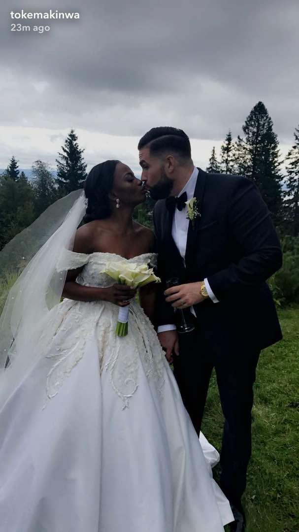 Busayo-Makinwa-Stian-Fossengen-white-wedding-Oslo-Norway-2
