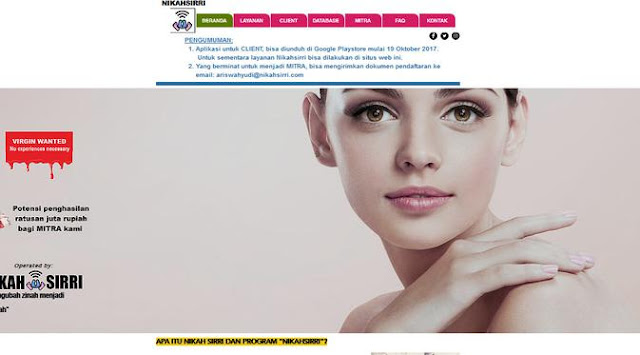 yang Ditawarkan Situs Lelang Perawan di Bekasi Berita Terhangat Konten website Nikahsirri , dari Foto Mesum sampai Ajak Lelang Perawan