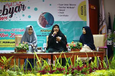 Nasriati Muthalib menjadi Pembicara Gebyar Hijab Day