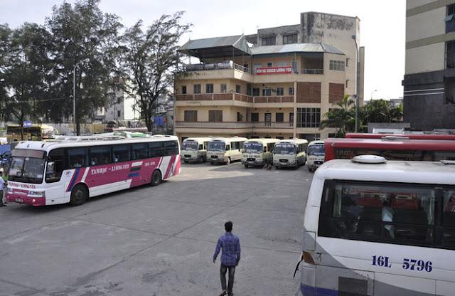 Hình ảnh bến xe Lương Yên hiện tại