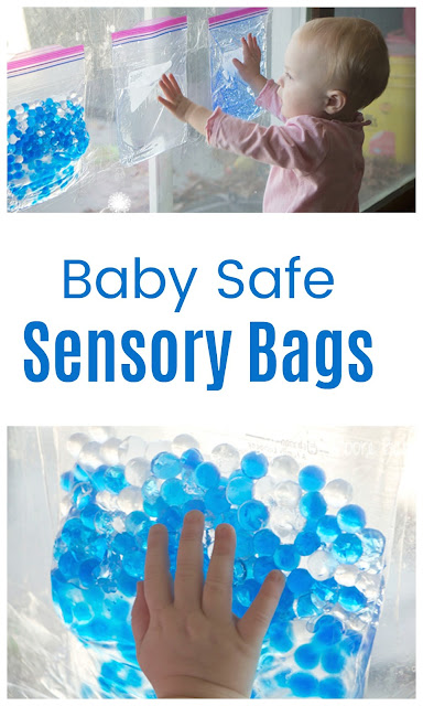 Safe Sensory Play for Baby with Sensory Bags