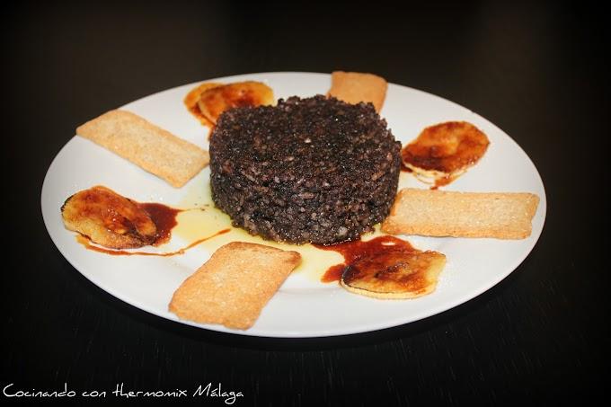 Morcilla de arroz con manzana caramelizada #diadelatapa