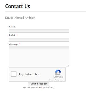 Tampilan Contact