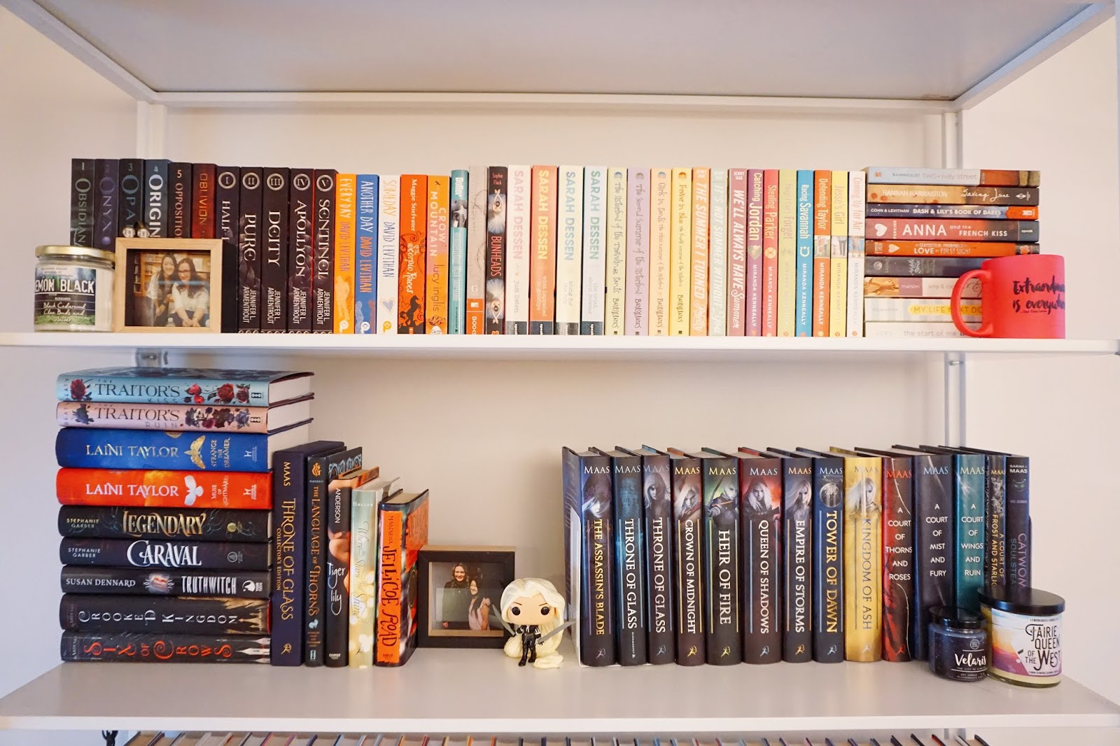 First Shelf Overall I Decided To Organize Books By Height And Or Category The One Are All My Paperbacks Which Around Same