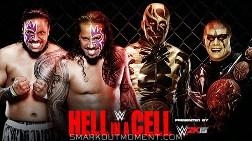 WWE Hell in a Cell 2014 PPV Stardust Goldust Jimmy Uso Jey Uso