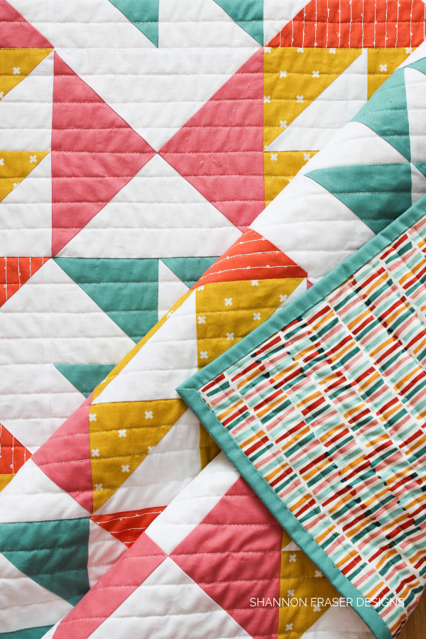"Pink Lemonade Quilt | Best Tips for New Quilters + How to find a 1/4"" seam allowance 