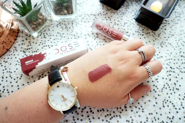 Dose of Colors Matte Liquid Lipstick in Mondaze | The Beauty is a Beast