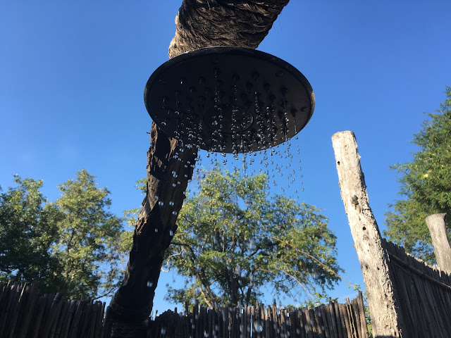 The outdoor shower at Mvuu Lodge - Liwonde National Park