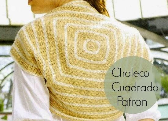 Chaleco Cuadrado de Crochet Patron