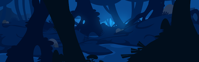 illustration d'une forêt magique en flat design