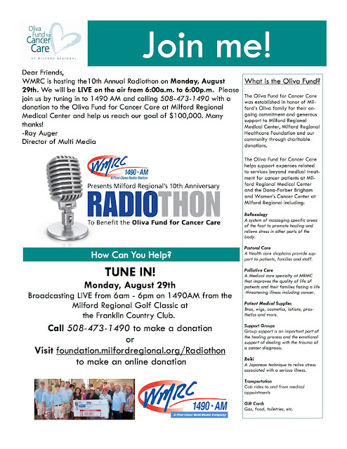 10th Annual WMRC Radiothon to Benefit the Oliva Fund for Cancer Care