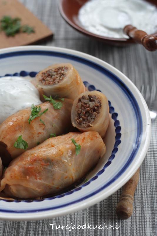 Tureckie gołąbki z mięsem mielonym
