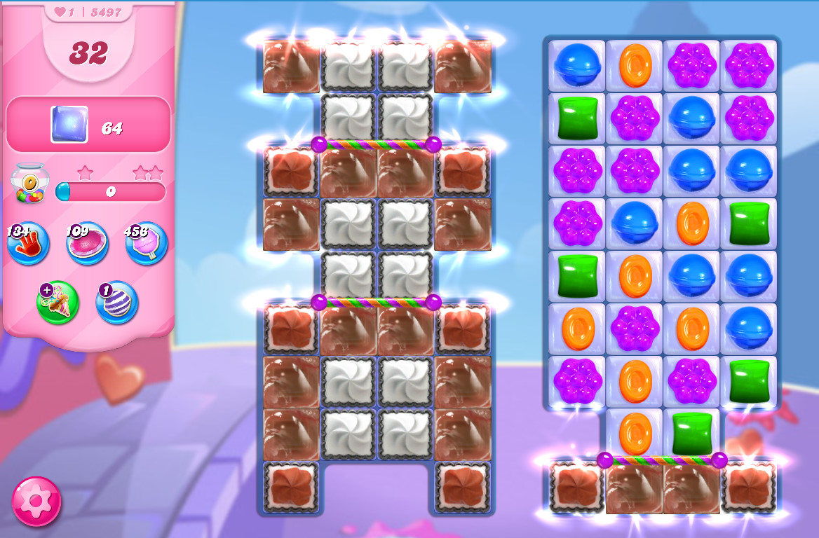 Candy Crush Saga level 5497