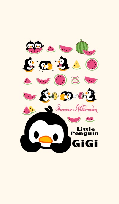 Little Penguin Gigi -Summer watermelon