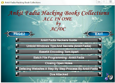 Hacking eBooks from Ankit Fadia are roughly of the best tutorials written past times Ankit Fadia jus Download Ankit Fadia's Hacking E-Book Collections