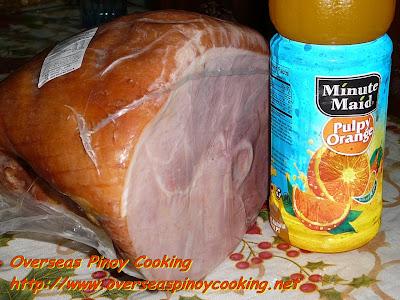 Leg Ham and Orange Juice