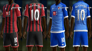 PES 2013 AFC Bournemouth 2016 - 2017 kits by vladroman
