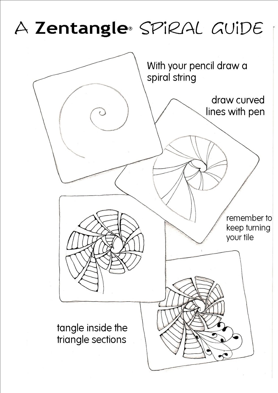 Shelly Beauch A Zentangle Spiral Guide