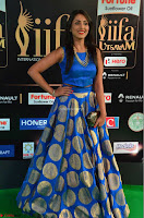 Madhu Shalini Looks Super Cute Slim trim Blue Choli Ghagra IIFA Utsavam Awards 16.JPG