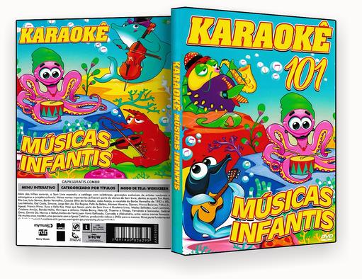 CAPA DVD – karaoke 101 Musicas Infantil – ISO