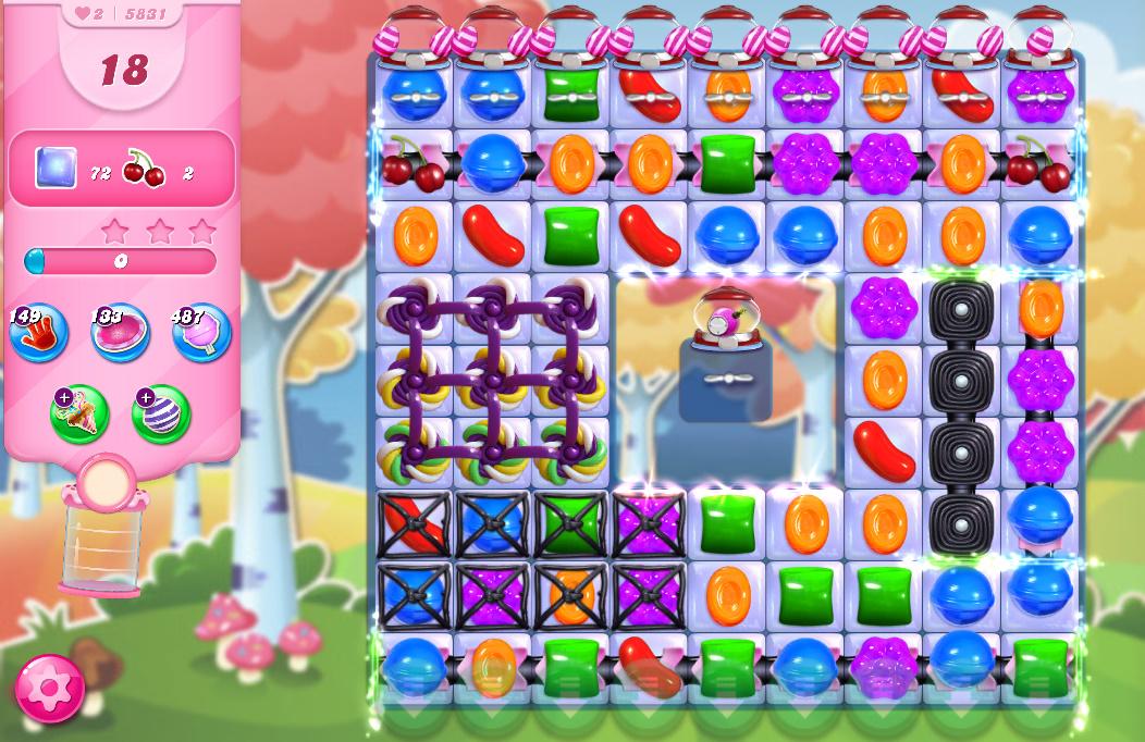 Candy Crush Saga level 5831