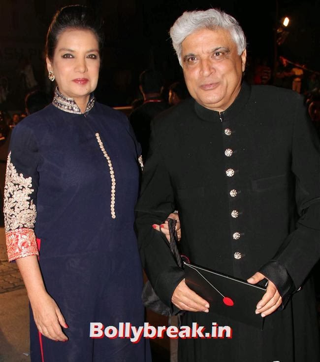 Shabana Azmi and Javed Akhtar, Filmfare Awards 2014 Red carpet Images