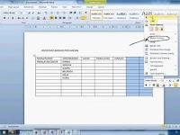 Cara Menghapus Kolom Di Microsoft Word 2007