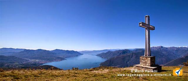 Il lago Maggiore dalla vetta del monte Cadrigna
